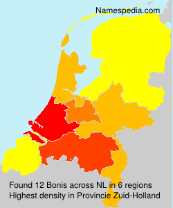 Surname Bonis in Netherlands