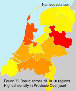 Surname Bonke in Netherlands