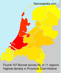 Familiennamen Bonnet - Netherlands