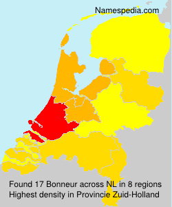 Surname Bonneur in Netherlands