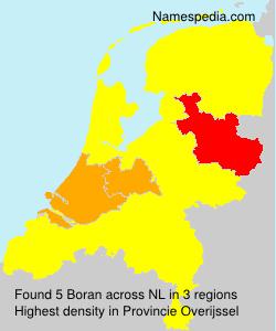 Surname Boran in Netherlands