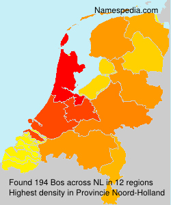 Surname Bos in Netherlands