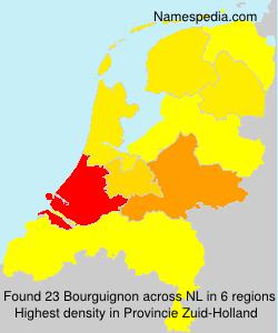 Familiennamen Bourguignon - Netherlands