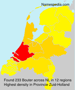 Surname Bouter in Netherlands