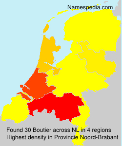 Surname Boutier in Netherlands