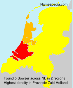 Surname Bowser in Netherlands