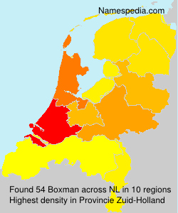 Surname Boxman in Netherlands