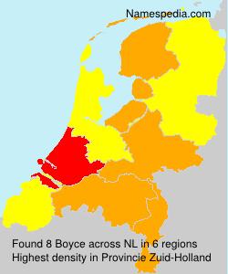 Surname Boyce in Netherlands