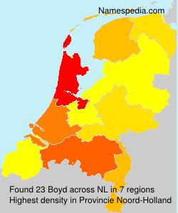 Surname Boyd in Netherlands