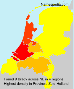 Surname Brady in Netherlands