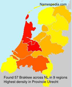 Familiennamen Brakkee - Netherlands
