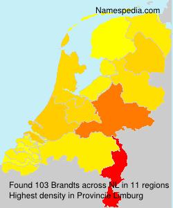 Surname Brandts in Netherlands
