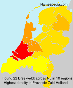 Surname Breekveldt in Netherlands