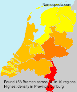 Surname Bremen in Netherlands