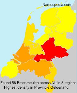 Familiennamen Broekmeulen - Netherlands