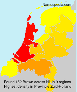 Surname Brown in Netherlands
