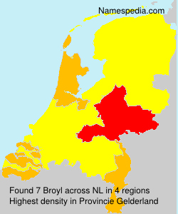 Surname Broyl in Netherlands