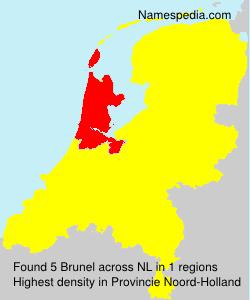 Familiennamen Brunel - Netherlands