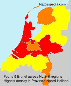 Surname Brunet in Netherlands