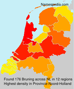 Surname Bruning in Netherlands