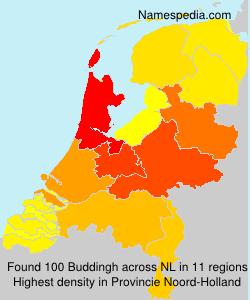 Surname Buddingh in Netherlands