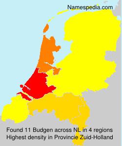 Surname Budgen in Netherlands