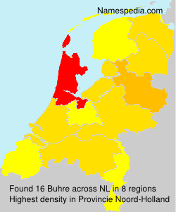 Surname Buhre in Netherlands