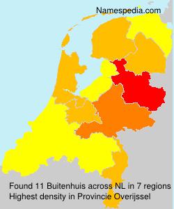 Surname Buitenhuis in Netherlands