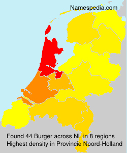 Surname Burger in Netherlands