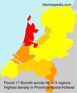 Surname Burnett in Netherlands