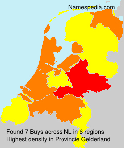 Surname Buys in Netherlands
