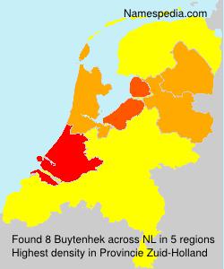 Surname Buytenhek in Netherlands