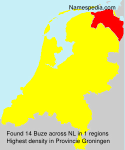 Surname Buze in Netherlands