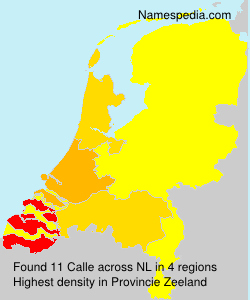 Surname Calle in Netherlands