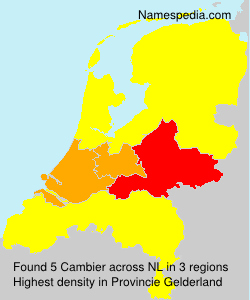 Surname Cambier in Netherlands