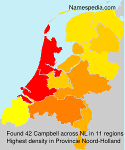Surname Campbell in Netherlands