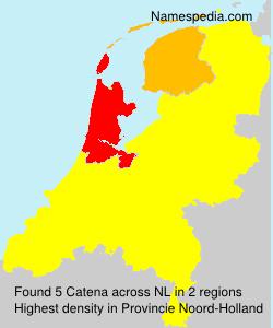 Familiennamen Catena - Netherlands