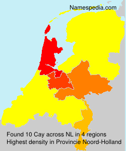 Surname Cay in Netherlands