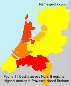 Surname Cecilia in Netherlands