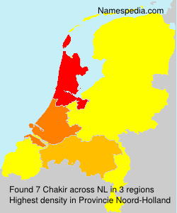Surname Chakir in Netherlands