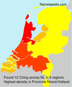 Surname Ching in Netherlands