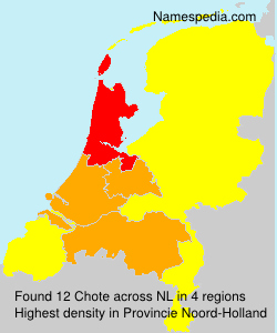 Surname Chote in Netherlands