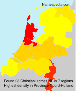 Surname Christiani in Netherlands