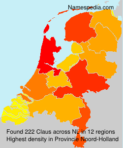 Surname Claus in Netherlands