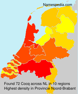 Surname Cocq in Netherlands