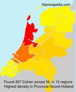 Familiennamen Cohen - Netherlands