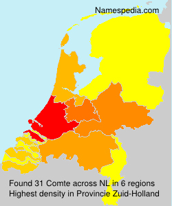 Surname Comte in Netherlands