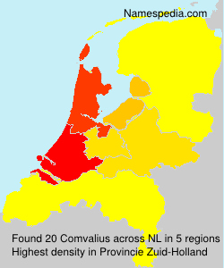 Surname Comvalius in Netherlands