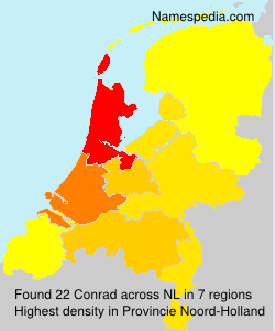 Surname Conrad in Netherlands