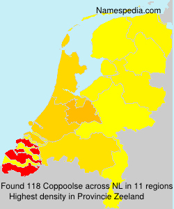 Surname Coppoolse in Netherlands